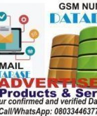 GSM and Email Database