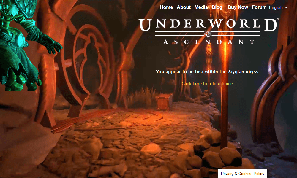 Best 404 pages: Underworld Ascendant