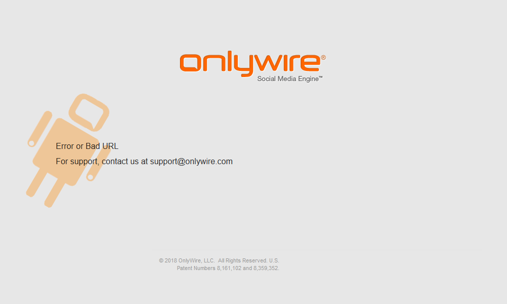 Best 404 pages: OnlyWire