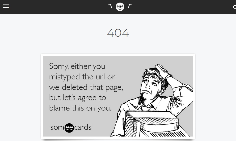 Best 404 pages: Someecards