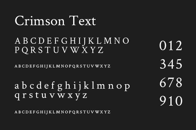 best-fonts-designers-CrimsonText