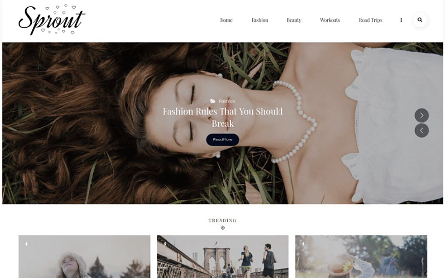 Visually Appealing Blogging Site WordPress Template