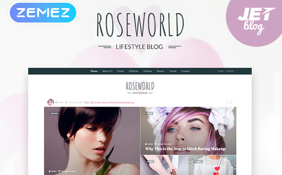Soft-Colored Personal Blog Responsive WordPress Template