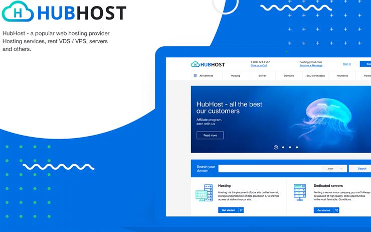 Hubhost - Hosting PSD Template Web3Canvas