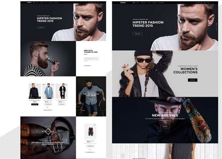 Jakiro Unique Fashion and Shopping PSD Template Web3Canvas
