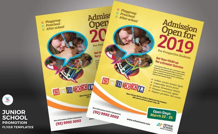 Junior School - Promotion Flyer PSD Template Web3Canvas