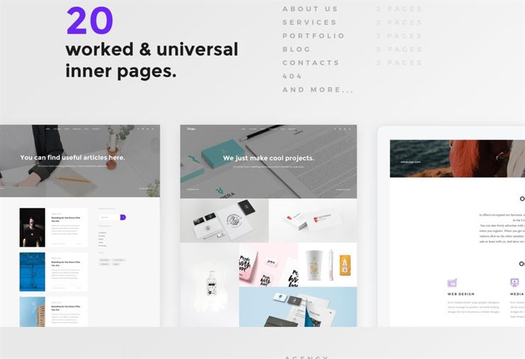 Virgo Elegant PSD Multipurpose Web Template Web3Canvas