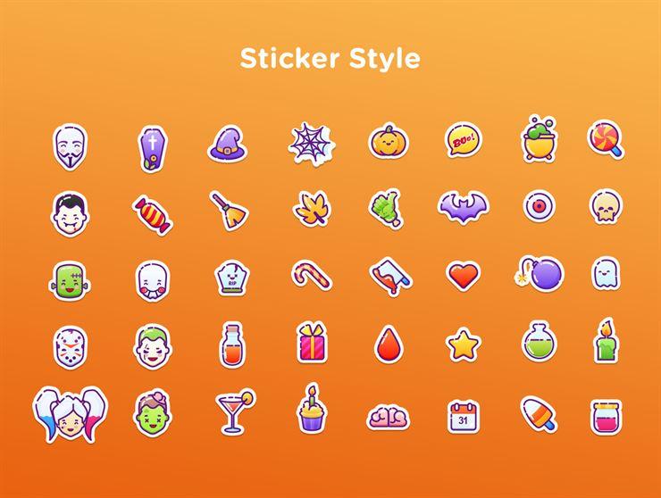 40 Halloween Vector Icons Web3Canvas