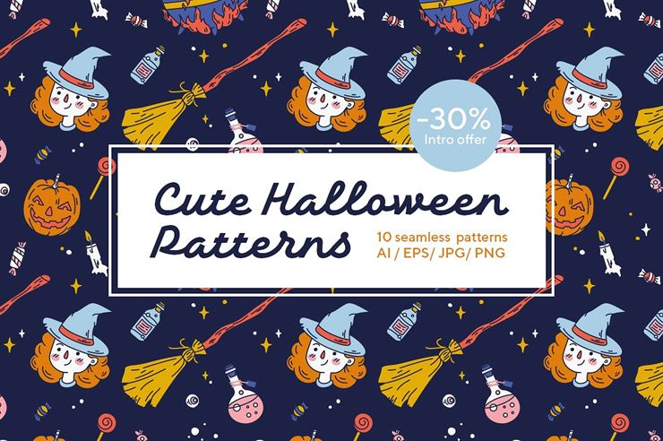 Cute Halloween Patterns Web3Canvas