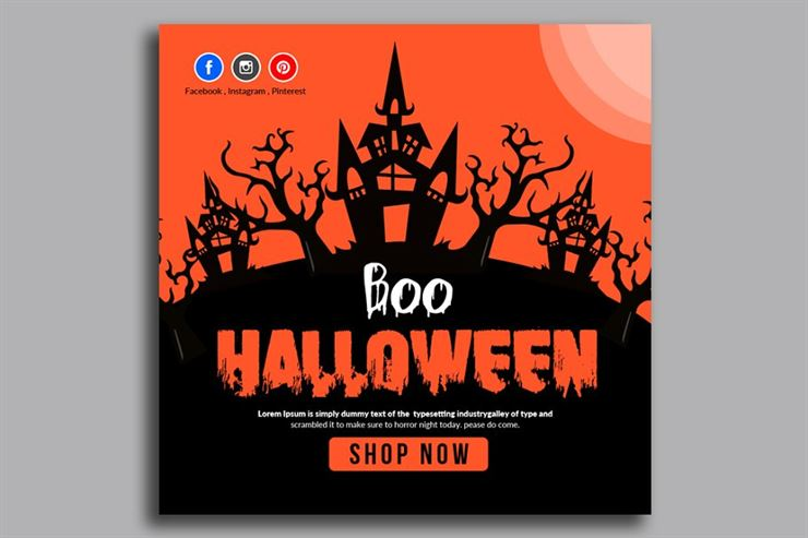 Halloween Banner Psd Template 05 Web3Canvas