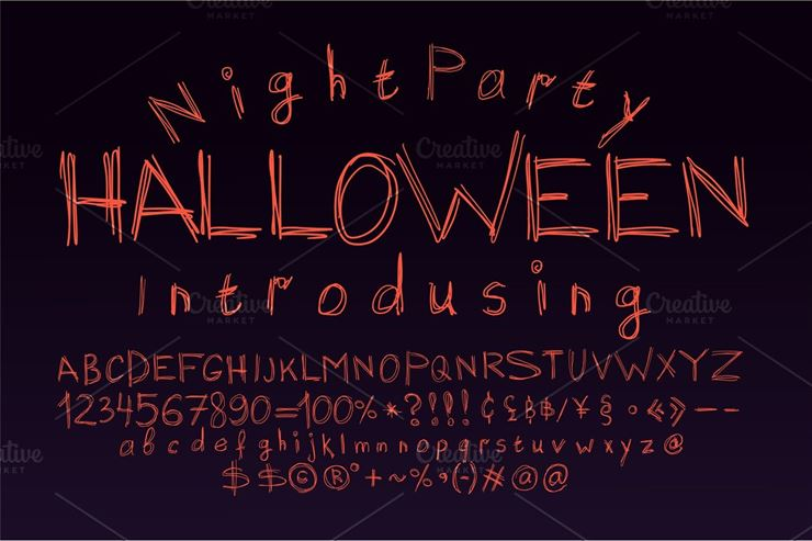 Halloween Font for Poster Scary - 2 Web3Canvas