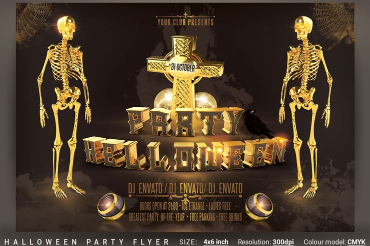 Halloween Party Flyer - 2 Web3Canvas