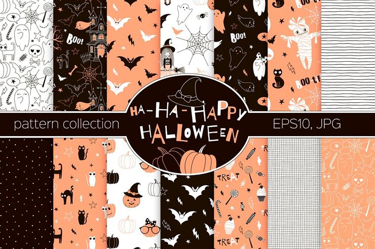 Halloween Pattern Collection Web3Canvas