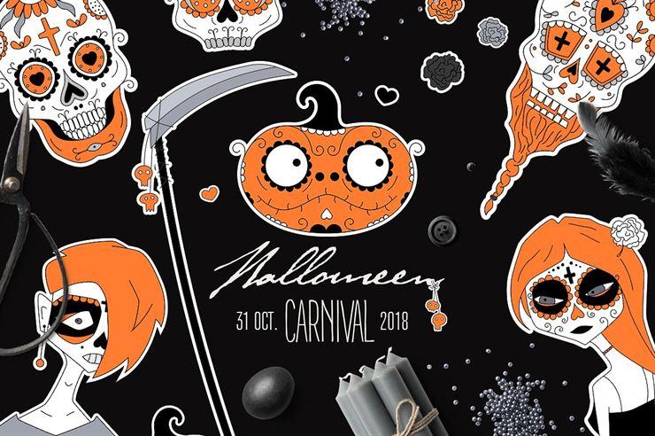 Halloween and Santa Muerte Graphics Web3Canvas