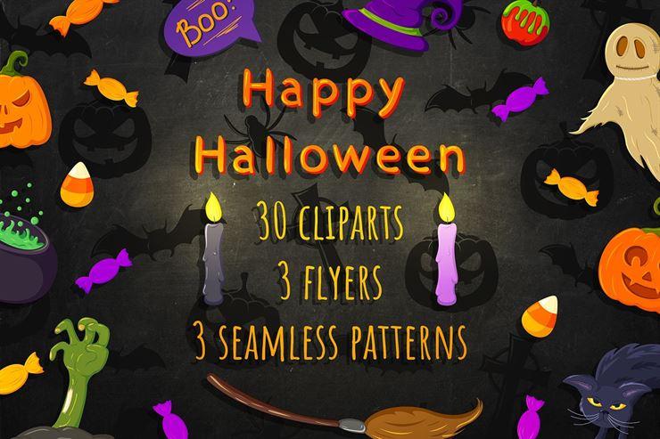 Halloween. Big Set Web3Canvas
