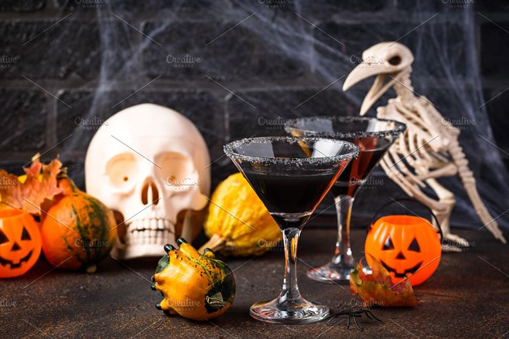 Halloweens Spooky Drink Black Web3Canvas