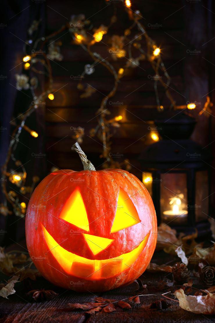 Pumpkin Lamp for Halloween Web3Canvas