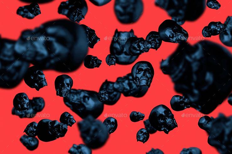 Skulls - Happy Halloween Backgrounds Web3Canvas