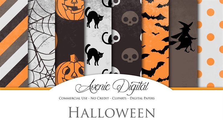 Spooky Halloween Digital Papers Web3Canvas