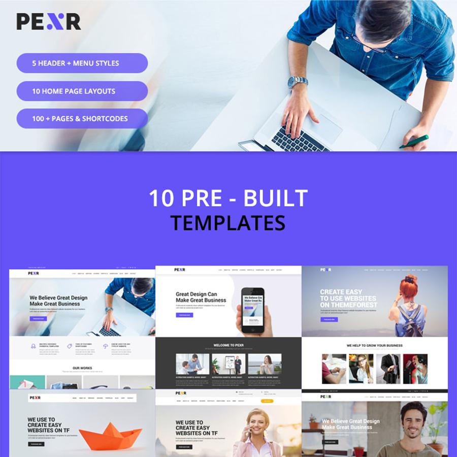 Pexr - Responsive Multipurpose HTML5 Website Template
