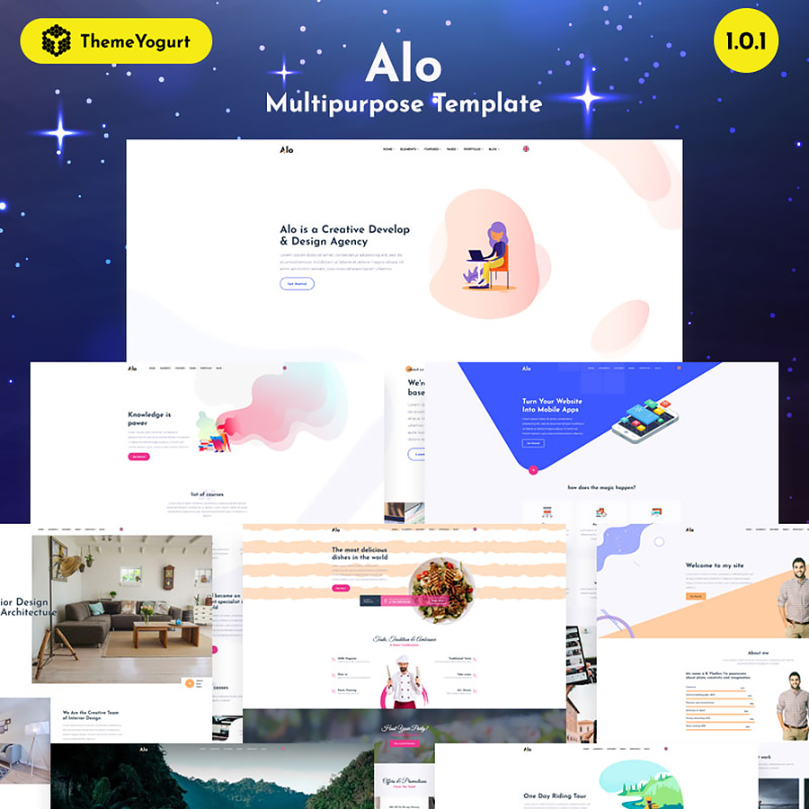 Alo - Truly Multipurpose Website Template