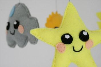 Die Aussichten fürs Kinderzimmer: Wolkig mit Sternenhimmel. Foto: Julia Marre