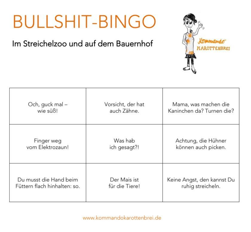 Bullshit-Bingo: Das Mütterspiel für den Streichelzoo