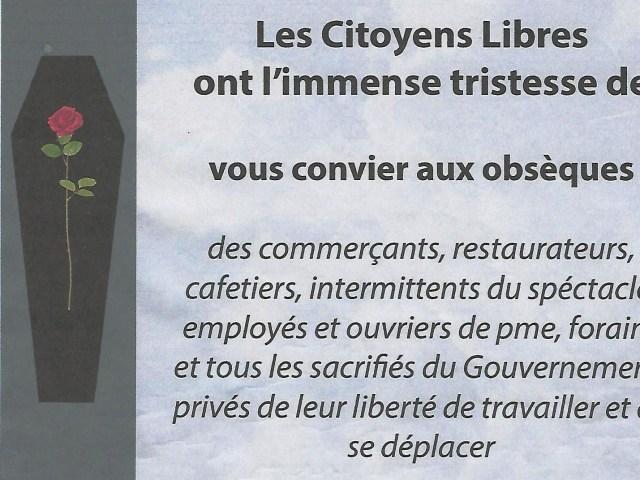 Cérémonie d'obsèques devant la mairie de Châtellerault