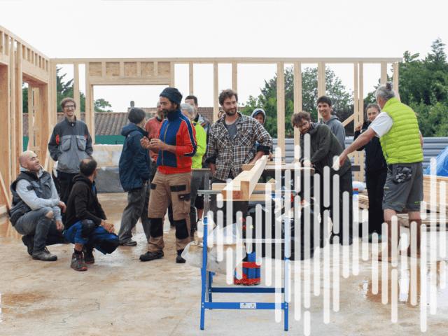 [podcast] Magazine «Le Vivant». Construction paille : un chantier-école pour se former