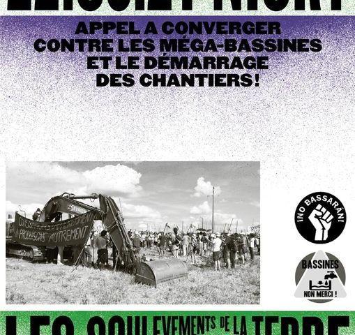 Appel à converger à Niort contre les « méga-bassines » et le démarrage des chantiers