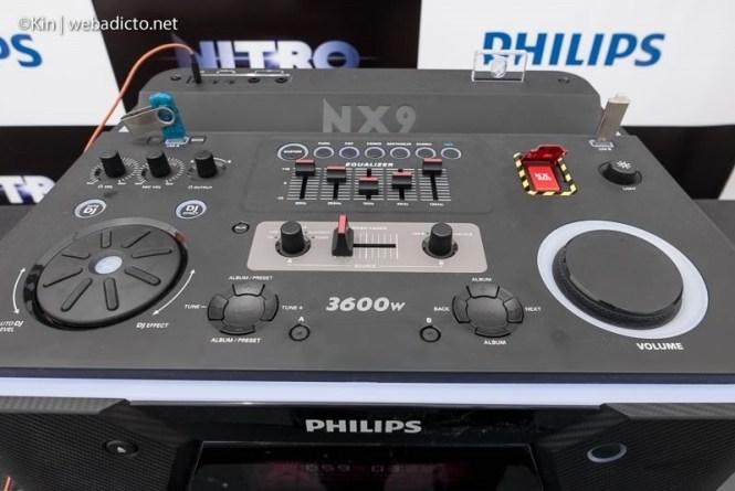 equipo de sonido philips nitro nx9 - consola control