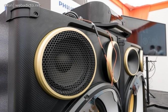 equipo de sonido philips nitro nx9 - woofer