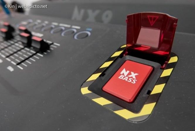 equipo de sonido philips nitro nx9 - boton nx bass