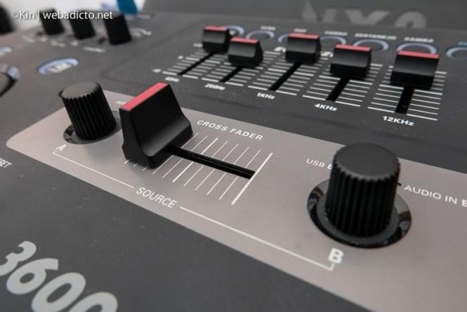 equipo de sonido philips nitro nx9 - cross fader