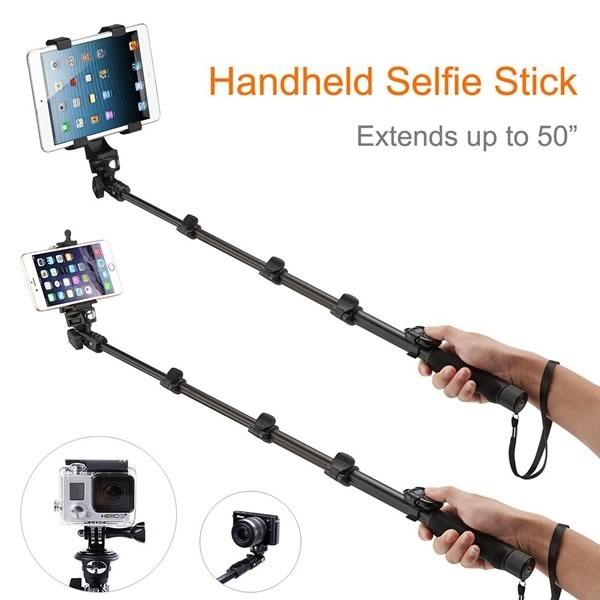 palo para selfie con tablet extension