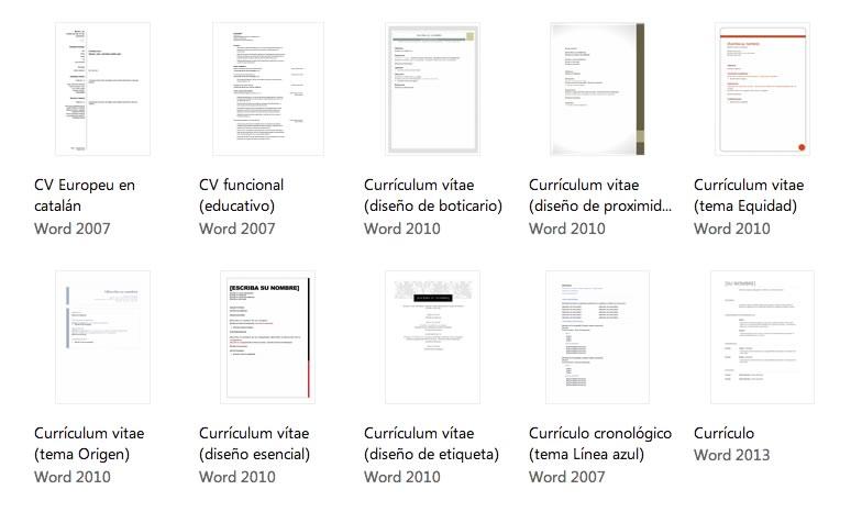 Plantillas de curriculum en Word, descárgalas y crea tu currículum - curriculum-word