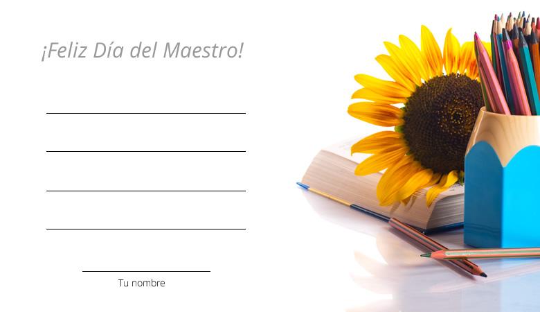 Tarjetas Del Día Del Maestro Que Te Servirán Para Felicitarlos