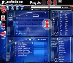 Hacer musica online con JamStudio