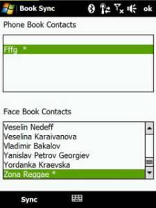 Sincronizar contactos con perfiles de facebook en windows mobile con BookSync