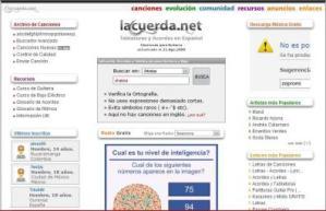 """La Letra De Tu Canción Favorita En """"La Cuerda.net"""""""
