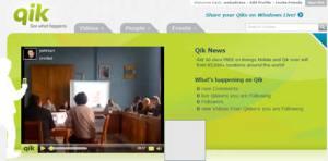 Transmitir video en vivo con tu celular en Qik
