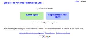 Google apoya a Chile con un buscador de personas