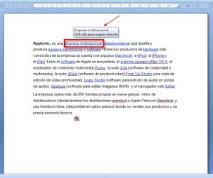 Como quitar los hipervínculos de un documento en Word