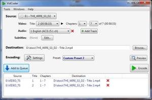 Convertir DVDs a mp4 con VidCoder