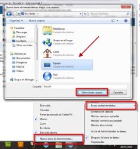 Agrega «Mi PC» a tu barra de tareas en Vista/Windows 7