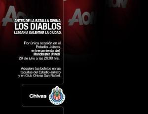 Chivas vs Manchester United en vivo