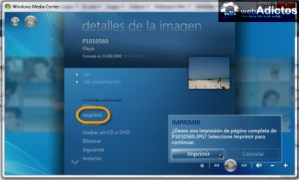 Editar imagenes en Windows Media Center