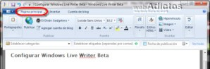 Configurar Windows Live Writer Beta