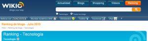 Ranking blogs de tecnología Julio 2010