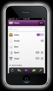 Nueva versión de correo yahoo para iPhone en HTML5
